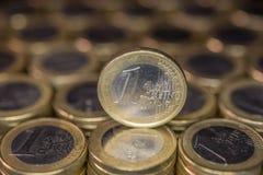 Pièces de monnaie d'un euro Image stock