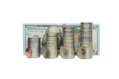 Pièces de monnaie dans la pile Photos stock