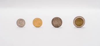 Pièces de monnaie de baht de sorte Photographie stock