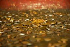 Pièces de monnaie de Bouddha Photographie stock