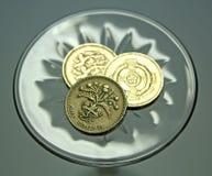 Pièces de monnaie de Bristish Photos stock