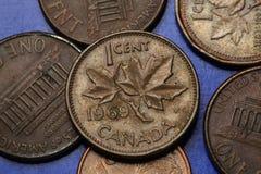 Pièces de monnaie de Canada Photographie stock libre de droits