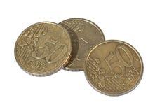 50 pièces de monnaie de cent Photo stock