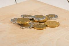 Pièces de monnaie de chocolat Photo stock