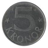 pièces de monnaie de 5 couronnes Photos libres de droits