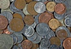 pièces de monnaie de fond Photo libre de droits