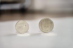 Pièces de monnaie de franc suisse Images stock