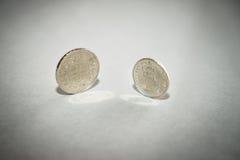 Pièces de monnaie de franc suisse Photographie stock libre de droits