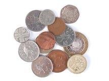 Pièces de monnaie de GBP Photo libre de droits