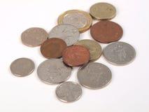 Pièces de monnaie de GBP Photos stock