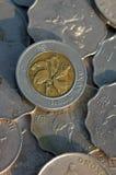 Pièces de monnaie de Hong Kong images libres de droits