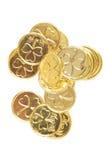Pièces de monnaie de jour de patricks de rue Images stock