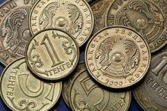 Pièces de monnaie de Kazakhstan Photos libres de droits