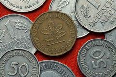 Pièces de monnaie de l'Allemagne photo libre de droits