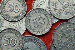 Pièces de monnaie de l'Allemagne photographie stock libre de droits