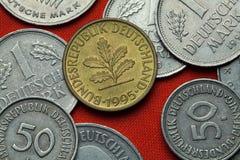 Pièces de monnaie de l'Allemagne Photographie stock