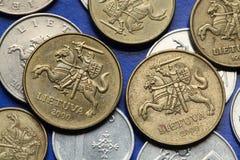 Pièces de monnaie de l'Equateur Images libres de droits