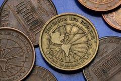 Pièces de monnaie de l'Equateur Image stock