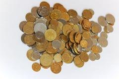 Pièces de monnaie de l'Ukraine Images stock