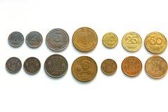 Pièces de monnaie de l'Ukraine Images libres de droits