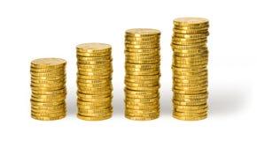 Pièces de monnaie de l'un dollar Photo stock