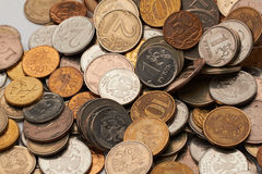 Pièces de monnaie de la Fédération de Russie Images stock