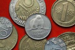 Pièces de monnaie de la Finlande images stock