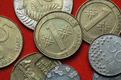 Pièces de monnaie de la Finlande Photo stock