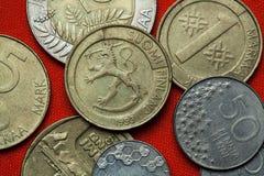 Pièces de monnaie de la Finlande Photos libres de droits