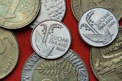 Pièces de monnaie de la Finlande Image stock