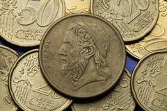 Pièces de monnaie de la Grèce Image libre de droits
