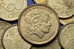 Pièces de monnaie de la Grèce Photographie stock