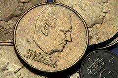 Pièces de monnaie de la Norvège image stock