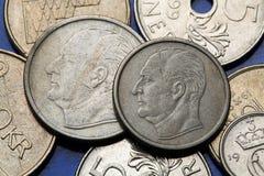 Pièces de monnaie de la Norvège Photo libre de droits