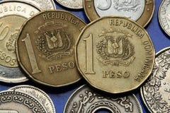 Pièces de monnaie de la République Dominicaine  Images libres de droits