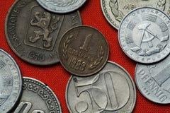 Pièces de monnaie de la République populaire de la Bulgarie Image libre de droits