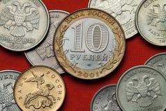 Pièces de monnaie de la Russie Photos stock