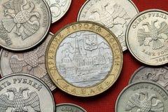 Pièces de monnaie de la Russie Kazan Kremlin Images libres de droits