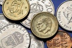 Pièces de monnaie de la Suède Photographie stock libre de droits