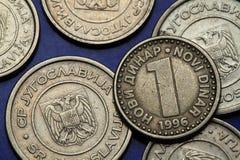 Pièces de monnaie de la Yougoslavie Photos stock