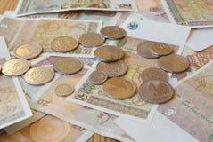 Pièces de monnaie de Lari et de tetri Photos stock