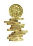 Pièces de monnaie de livre Image stock