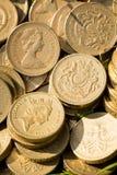 Pièces de monnaie de livre anglaises Photos libres de droits