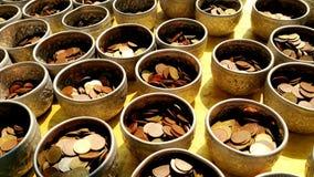 Pièces de monnaie de mérite Photographie stock