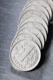Pièces de monnaie de mark finlandais Photos libres de droits
