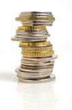 Pièces de monnaie de pile Photo stock