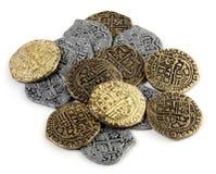 Pièces de monnaie de pirate Photos stock