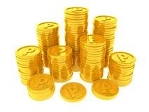 Pièces de monnaie de point Photographie stock