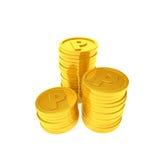 Pièces de monnaie de point Photos libres de droits