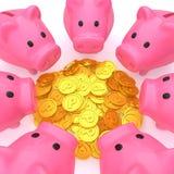 Pièces de monnaie de point Image stock